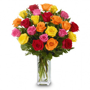 24 Long Stemmed Mixed Roses