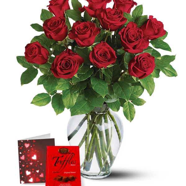 Dozen Red Roses & Truffles buy at Florist