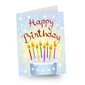 Full Size Birthday Card buy at Florist