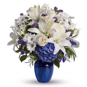 Mo Blue Bouquet buy at Florist