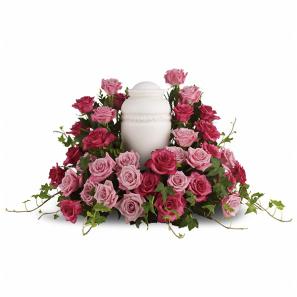 Rose Symphony Urn Arrangement