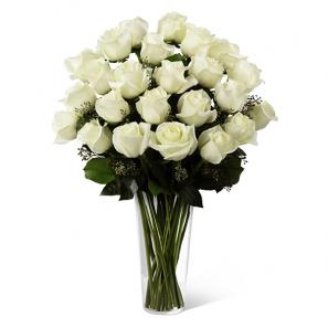 Two Dozen Long Stemmed White Roses buy at Florist
