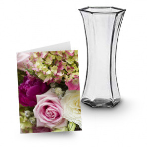 Vase and Card Combo buy at Florist